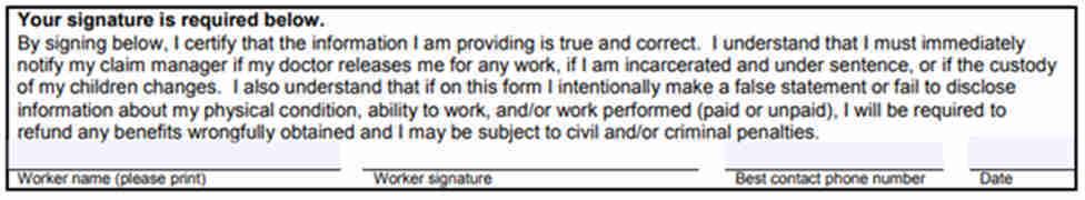 L&I work status form